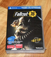 Fallout 76 Rare limited Preorder Box T-Shirt Beta PS4 Xbox One NO GAME 2 3 4
