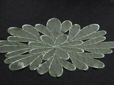Tischdecke/Tischläufer:ca.40cmx85cm;Organza;Stickerei;modern;dekorativ;grün
