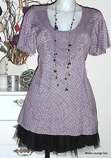 NOA camicetta maglia SPARROW Viscosa Pois S 36 lilla SPIRIT nuovo