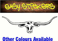 580mm Longhorn Car Ute Sticker Quality Decal Truck RM Williams - Any Colour!