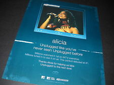 Alicia Keys Unplugged Like You've Never Seen. 2005 Promo Display Ad mint cond.