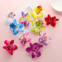 Girls Barrette Wedding Accessories Bridal Hairpins Flower Hair Clips Orchid