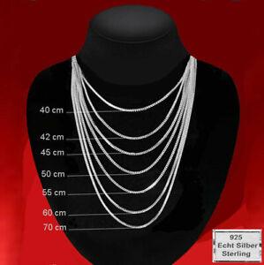 ECHT Sterling Silber 925 Halskette Panzerkette Damen Herren Kinder Silberkette %