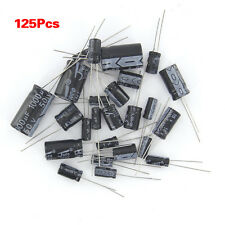 125Pcs 1uF electrolytic capacitors 2200uF 25 Values assorted assortment Kit Set