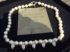 Yellow Gold Pearl Strand/String Costume Necklaces & Pendants