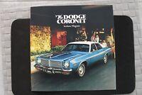 1976 DODGE CORONET ORIGINAL SALES BROCHURE