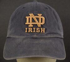 Norte Dame ND Irish Blue Baseball Hat Cap Fitted M Medium