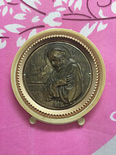 Vintage Saint Francis of Assisi Plaque, Roman Catholic 7203