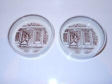Vintage Pair ADAMS real English Ironstone porcelain china small butter dish