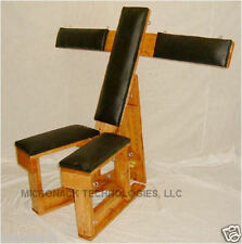 Deluxe Wood and VINYL Dungeon Chair d851
