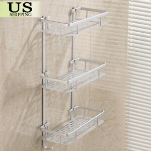 3 Tier Towel Rack Bathroom Organizer Wall Mount Toilet Bath Caddy Storage Shelf
