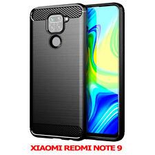 "Silicone Cover Fiber Carbone Tempered Glass Xiaomi Redmi Note 9 6.53 """