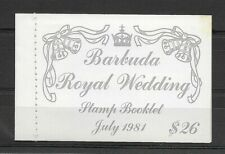 Barbuda:1981:Royal Wedding,(Booklet).Set in (3 Colours).L.M.Mint.