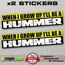 WHEN I GROW UP FUNNY CAR 4x4 sticker decal VINYL offroad Hummer Wannabe RACE JDM
