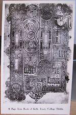 Irish RPPC PAGE FROM the BOOK OF KELLS Dublin Ireland Trinity Library Celtic Man