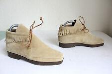 luxus By Mario Valentino Boots Schnürstiefeletten Echtleder Beige Eu:35- wie NEU