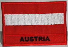 """AUSTRIA  - FLAG EMBLEM PATCH SEW ON EASY TO USE 2""""x3"""""""