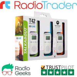 Motorola Talkabout T42 Triple Pack Walkie Talkie PMR446 Licence Free Radios