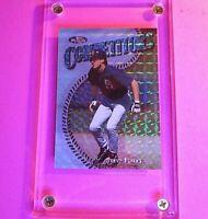 STEVE FINLEY 1997 Topps Finest SILVER Refractor #314 (Embossed test) Padres