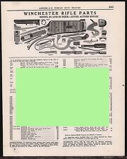 1953 WINCHESTER Model 64 & 64 Deer Lever Action Rifle Parts List AD