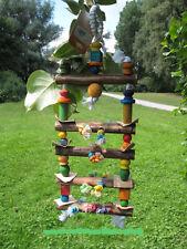 Papageienspielzeug ! Colour Climbing Toy ! Schaukel - Brücke und Leiter !