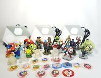 Disney Infinity Lot Marvel~Pixar~Incredibles Figures Crystals, Discs, Portals