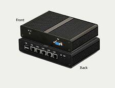 Mini PC Fanless Router Firewall Pfsense Intel Quad Core J1900 2Gz VGA SSD 4x LAN