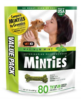 VetIQ Minties Dog Dental Bone Treats, Dental Chews for Dogs