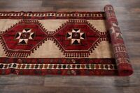 EXCELLENT Vintage Geometric Tribal 13 ft Long Runner Ardebil Rug Oriental 4'x13'