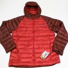 $249 North Face Men's Trevail 800 Fill Hooded Down Jacket Large Sequoia Red NWT