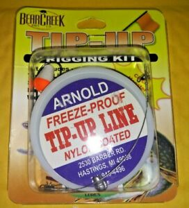 Bear Creek Tip-Up Rigging Kit Arnold Freeze Proof with line, sinker and bobber
