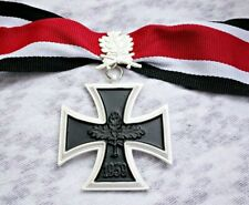 Knights Iron Cross with Leaf WW2 German Medal 1939 Ritterkreuz Copy