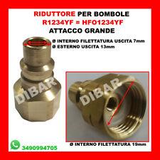 RACCORDO PER BOMBOLE DI GAS HFO1234YF=R1234YF ATTACCO GRANDE