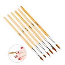 6Pcs Set Brush UV Gel Polish Decoration Carving Pen Nail Art Tool Acrylic Tips