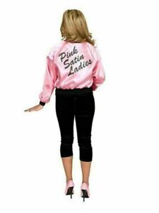 Pink Satin Ladies Jacket Costume for Adults