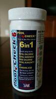 6 in 1 Pool Spa Water Test Strips Chlorine Bromine Cyanuric Acid 50 TESTS 7 way