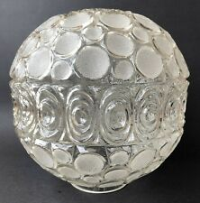 Nemo 1974 Vintage Clear Glass Round Globe Lamp Shade Frosted Circles