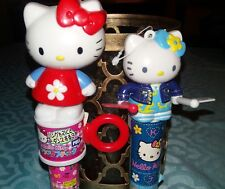 Lot of (2) Sanrio Hello Kitty Candy Dispensers ~ 2001 ~ Bought in Japan ! Kawaii