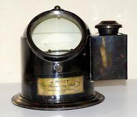 Antique Brass Binnacle Gimbal Compass Marine Ships Helmet Oil Lamp Style J Scott
