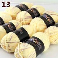 AIP New 8Skeinsx50g Soft DK Baby Cotton Crochet Yarn Hand Wool Scarf Knitting 13