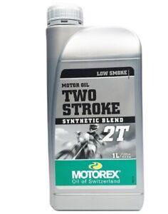 HUILE moteur MOTOREX 2 TEMPS TWO STROKE 100% Synthese Moto cross enduro 1 LITRE