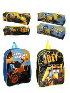 JOEY JCB Kids Boys Girls Children's Backpack School Travel Lunch Bag Pencil Case
