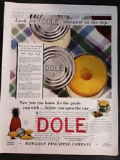 Vintage Magazine Large AD 1929 Dole Canned Pineapple Colorful