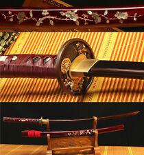 "41""  DAMASCUS  FOLDED  TEEL CLAY TEMPERED COPPER JAPANESE SAMURAI SWORD KATANA"