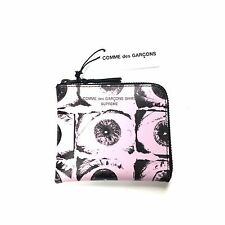 NWT Supreme Comme des Garcons SHIRT Eye Print Zipper Wallet Pink SS17 AUTHENTIC