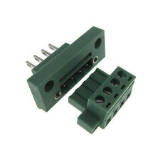 4 Positions 5.08mm Screw Terminal Block Front Flange Panel Mount Header Plug