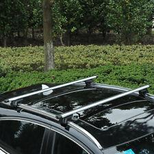 Roof Top 2 PC Aluminum Cross Bars Lockable Adjustable Baggage