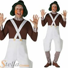 Mens Oompa Loompa Costume Charlie & The Chocolate Factory Fancy Dress Outfit