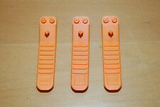 Lot of 3 AUTHENTIC LEGO ORANGE BRICK SEPERATOR DISCONECT REMOVAL TOOL, USEFUL