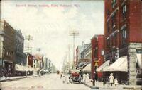 Ashland WI Second St. c1910 Postcard #2